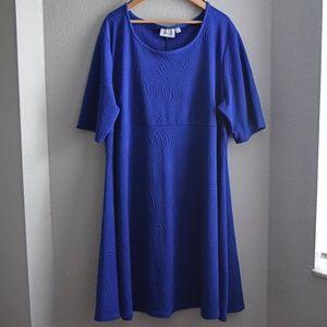 Avenue Swing Dress Plus Size 26/28 Blue